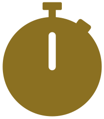 Picto Chronomètre doré Coachin'Pitch