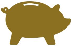 Tirelire cochon doré Coachin'Pitch